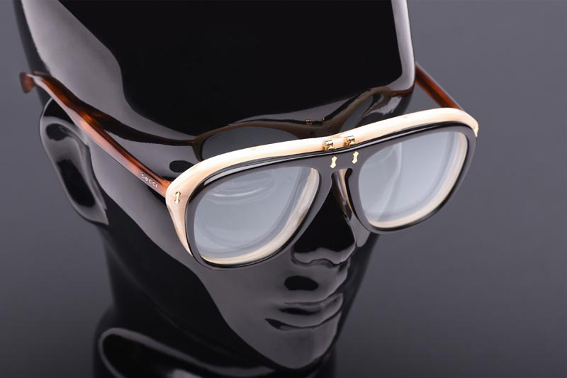 eyeglasses product shot on mannequin